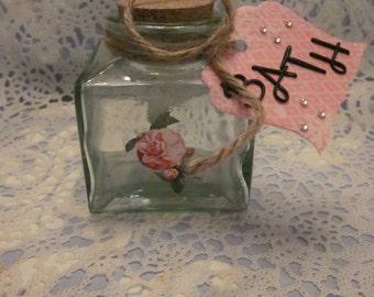 Sweet Square Glass Bath Bottle