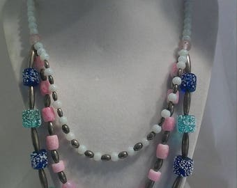 Handcrafted multi-strand necklace