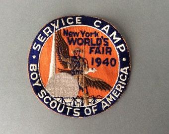 SALE! 1940 New York World's Fair Boy Scout Service Camp Badge