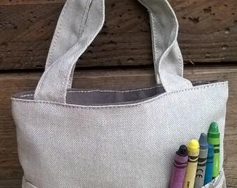 baby bag mini bag gift aspect child flax cotton taste book leisure