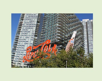 Pepsi Cola Sign Photography, Long Island City, Queens, New York Photo Greeting Card