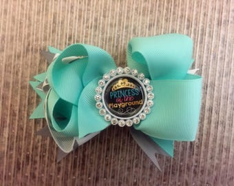 4 1/2 in. Princess of the Playground Embellished Layered Boutique Hair Bow on a 1 3/4 in. Single Prong Clip