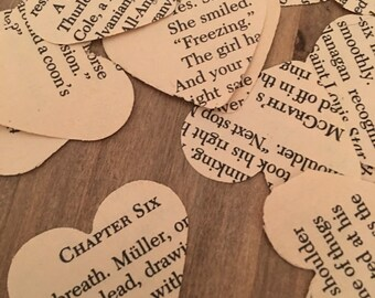 Book Pages Heart Confetti