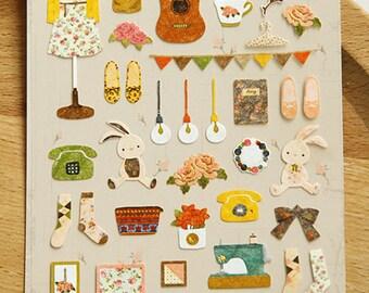 Mori Girl Stickers, Cute Stickers, Kawaii Sticker, Korean Sticker, Scrapbooking