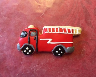 Fire Truck Sugar Cookies- 1 Dozen