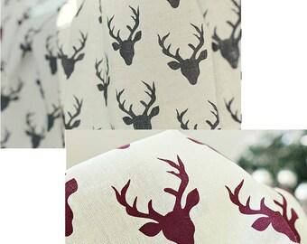 deer fabric/rein deer fabric/elk fabric/hunting trophy fabric/cotton Scandinavian fabric/deer pattern fabric/curtain fabric/laminated deer