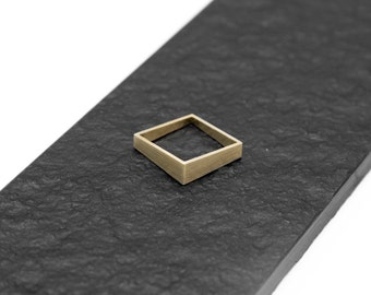 Handmade Square Brass Ring