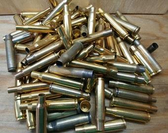 Cheap Brass Bullet Shells Grab Bag-1 LB Mix-Large Small Empty Brass Bullet Casings-Pistol Brass-Rifle Brass Cases-Silver Gold Bullets