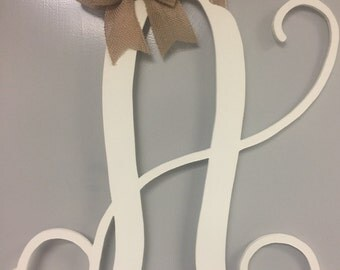 "CUTE* 18"" Finished Vine / Cursive Wooden Door / Wall Hanger"