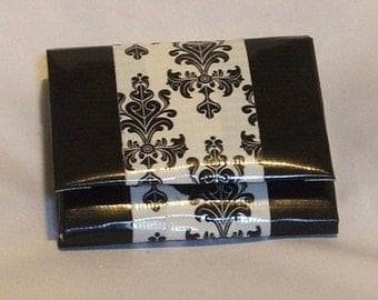 Black and White Women's Accordian Duct Tape Wallet