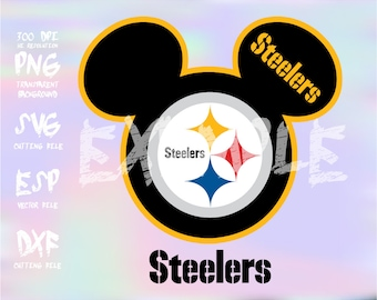 Mickey heads Sport logo football team Pittsburgh Steelers ,clipart,SVG,PNG 300dpi ,ESP vector
