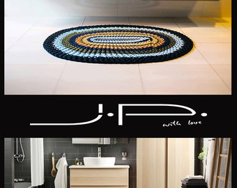 NEW! Oval Crochet Rug