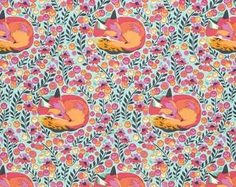 Tula Pink Fabric - Tula Pink Fox Nap - Tula Pink Chipper - Fox fabric - Fabric by the yard