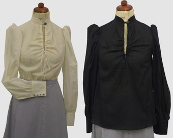 Slip blouse Elisabeth with stand-up collar
