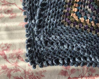 Hand-crocheted baby comfort blanket