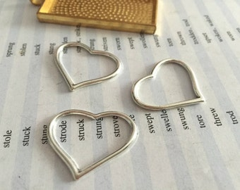 Bulk sale 100 Pieces /Lot Antique Silver Plated 22mmx28mm heart charms