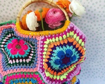 Ratschebohohippiebag crochet bag Crochetbag hippie bag Bohotasche