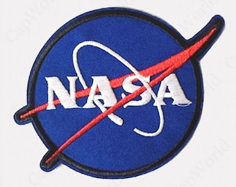 Nasa Iron On Patches - Embroidered Nasa Applique Iron On Patch