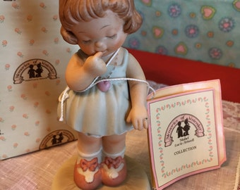 Vintage Girl With A Ring Porcelain Figure Memories of Yesterday, Mabel Lucie Atwell,