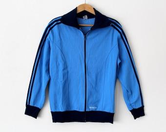 Vintage ADIDAS Tracksuit, 70's Adidas Top, Unisex Adidas Windbreaker, Blue Trefoil Track Jacket, Rare Adidas Sweater, Medium Size Adidas