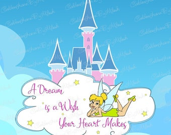 Disney Castle Princess Svg Dxf Png Eps Files Vector Tinkerbell SVG Disneyland clipart mickey mouse Disney world cinderella castle cut file