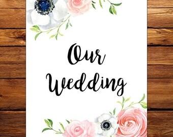 Holly Wedding Planning Binder- Floral