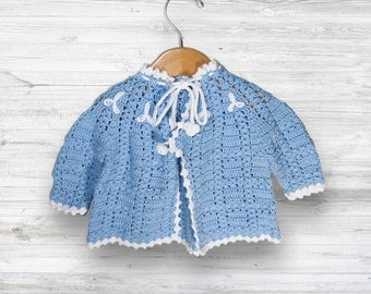 Crochet cardigan! Handmade baby cardigan - baby gift - baby keepsake - baby shower gift - unique crochet cardigan - perfect knit cardigan