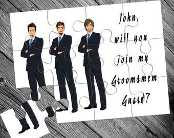 Funny Groomsmen Gift, Will You Be My Groomsman, Groomsman Puzzle, Groomsman Proposal, Be My Groomsman Invitation Puzzle, Groomsman Team
