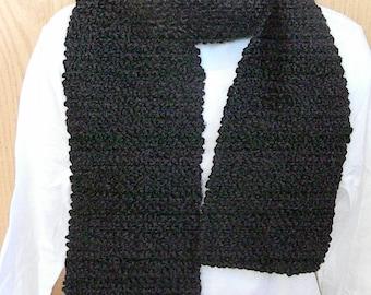Knitted Scarves-Black