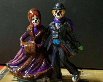 Day of the Dead Ice Skaters