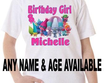 Trolls Birthday Shirt Peronalized