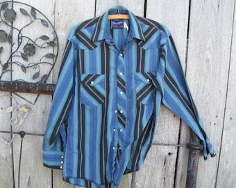 vintage wrangler western shirt                 Rockabilly Cowboy Shirt rodeo  country music usa  americ