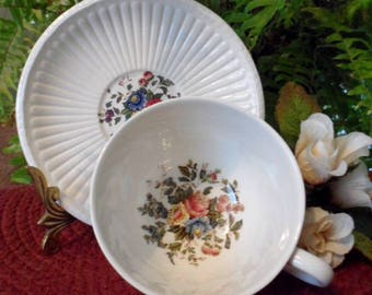 "Wedgwood England Edme China Pattern # AK8384 ""CONWAY""   Patent 61298 Multi Color Floral"