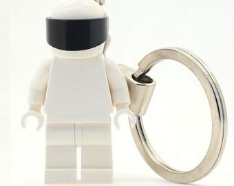 LEGO The Stig Minifigure Keychain Made Using LEGO Parts