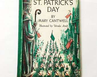 Mary Cantwell's book St. Patrick's Day.  Children's book.  First Edition.  Monasteries.  Catholic.  Irish.