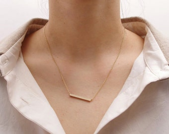Necklace bar, dainty necklace, everyday necklace / / gold / / 60% off