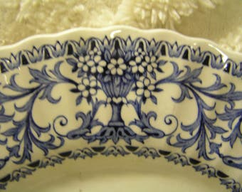 Vintage Blue and White English Ironstone Classic Forum Plate