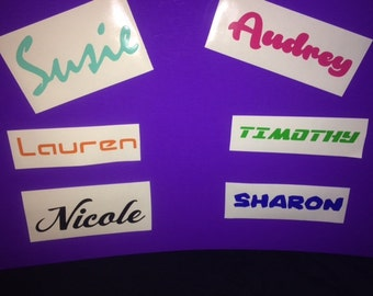 Custom Vinyl Decal sticker - Names or Words- Perfect for YETI, RTIC or Ozarks Tumblers *2 for Price of 1* 2for1