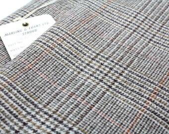 Vintage Tweed Finest Quality British 'West of England'. Beautiful Plaid Check Weave. British Made. Pristine Condition 105cm x 135cm