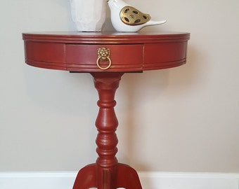SOLD  Vintage Pedestal Table