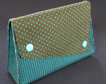 Make-up bag striped dotted with stars