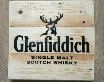 Glenfiddich Sign Upcycled From Reclaimed Wood