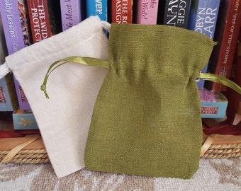 Soap Saver Bag, Linen Soap Saver Bag, Muslin Soap Saver Bag,