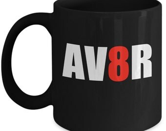 Funny Pilot Mugs - AV8R Aviator - Ideal Flying Gifts