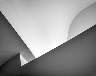 Abstract Shapes, Guggengeim Bilbao, Spain, fine art, black and white, art print, graphic