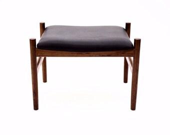 Danish Mid Century Modern rosewood stool