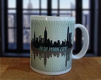 NewYork Mug, Retro Coffee Mug, NYC