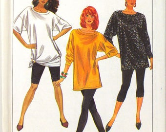 Simplicity 9597  Free Shipping   Miss Oversize Top and Leggings  Size XS to XL   Uncut