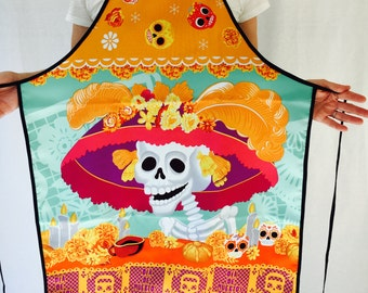 """Day of the Dead """"The Catrina's Altar"""" Apron"""