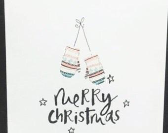 Handmade 'Mittens' Christmas Cards